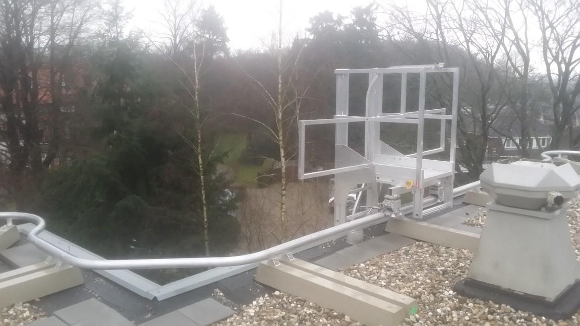 Railtraject en nieuwe gevelladder in Baarn