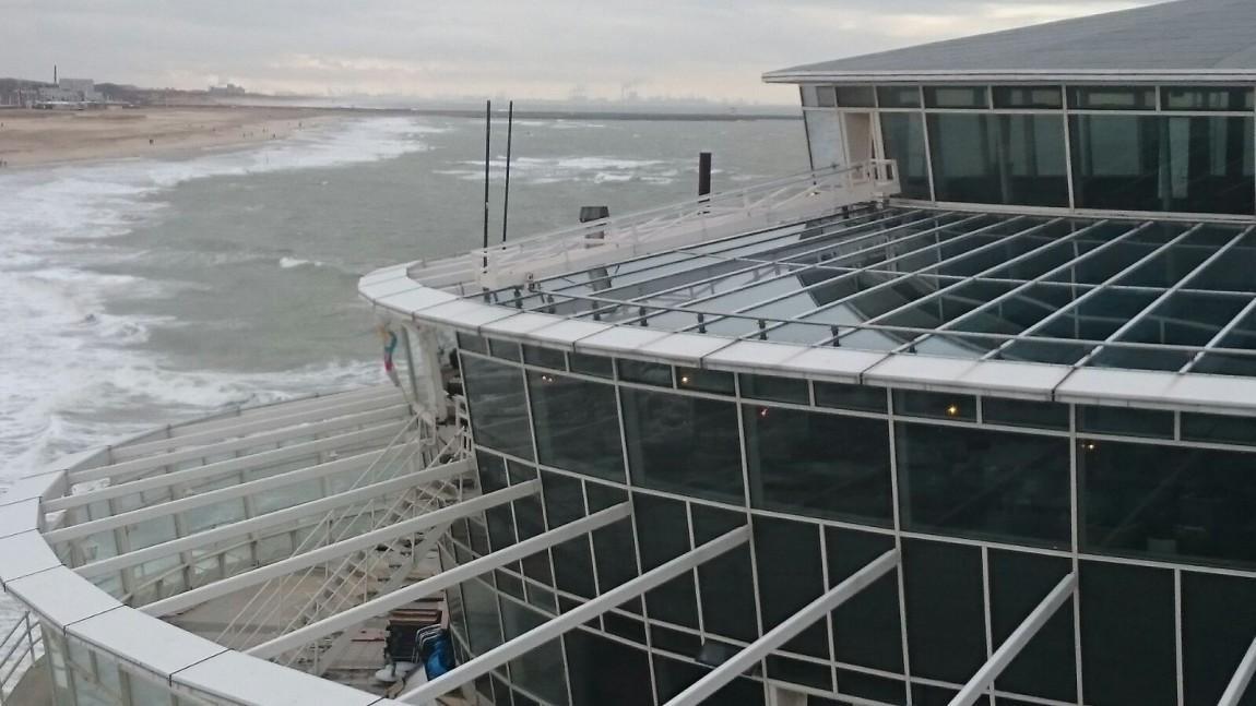 Nieuwe werkbrug  (pier Scheveningen)